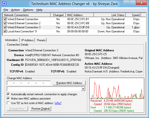 MAC Address Changer 6.0.5 Download
