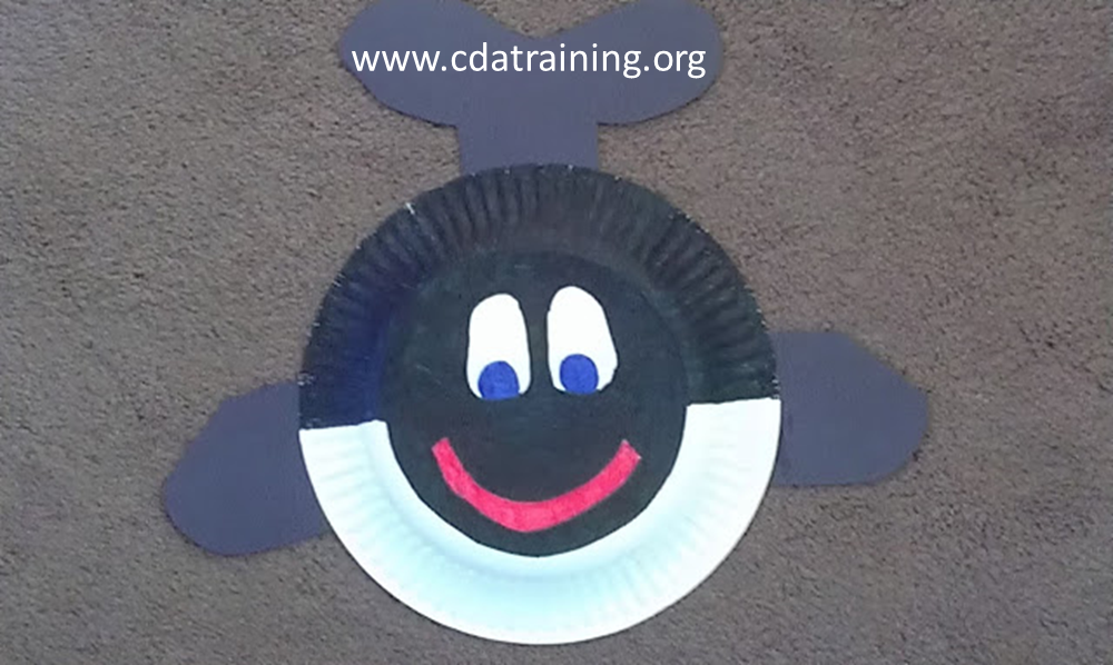 Paper Plate Whale & Child Care Basics Resource Blog: Paper Plate Whale