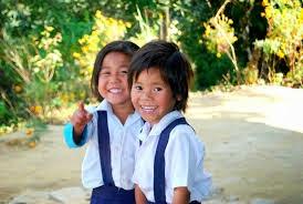 primary school students in darjeeling hills