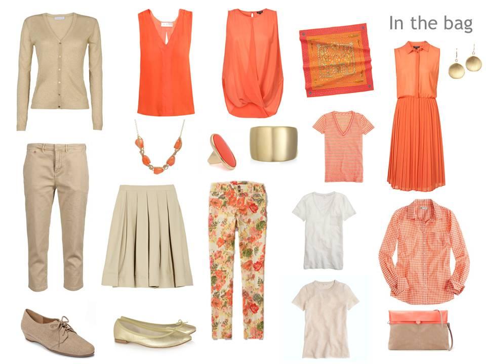 A Travel Capsule Wardrobe Packing For Paris In Orange