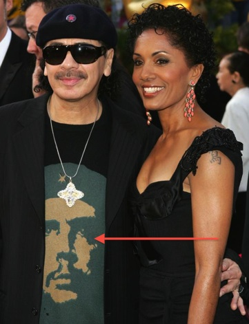 Carlos santana with a che T shirt