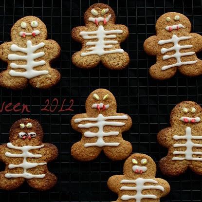 Ciasteczka o smaku piernikowym - na Halloween