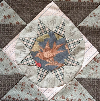 Antique Wedding Sampler: revisited Block #3