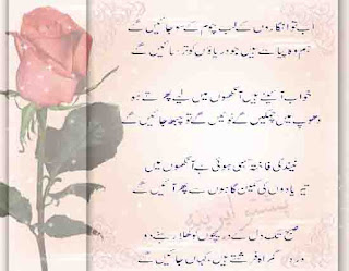 best design urdu poetry bashir badar
