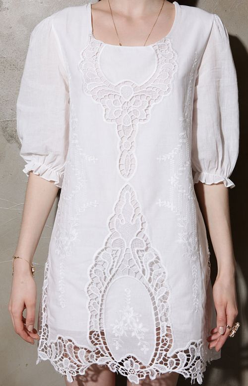 Heather Embroidered Linen Dress