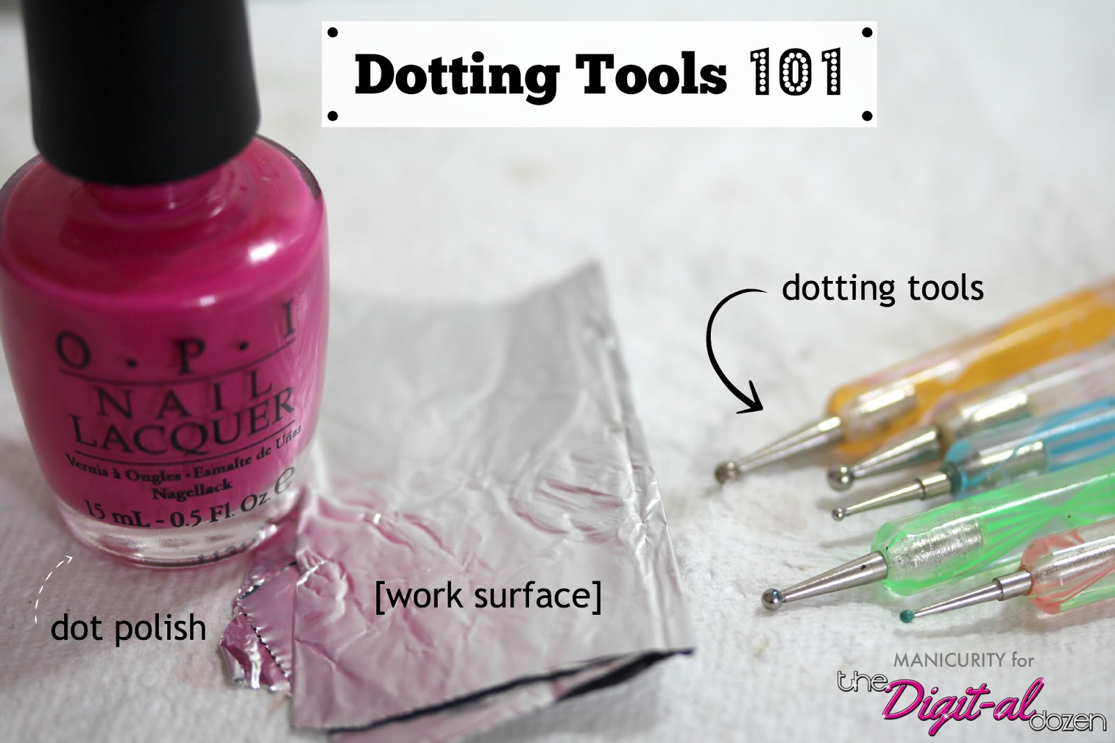 Dotting Tools 101: The Definitive Guide to Getting Dotty - How to Use Dotting Tools for Nail Art (Tips, Tutorial) by Manicurity for The Digital Dozen