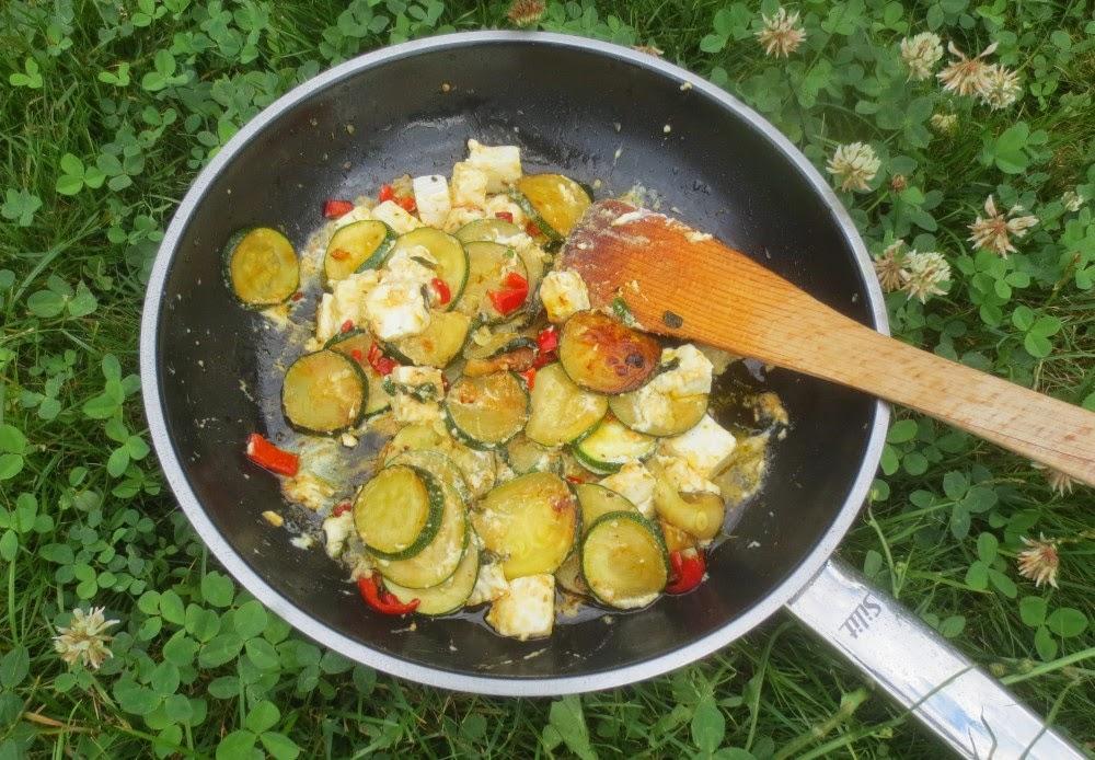 Gebratene Zucchini mit Feta
