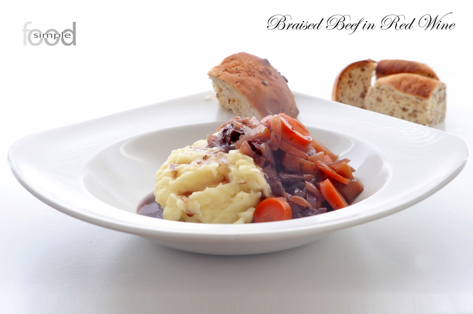 Braised Beef in Red Wine ~ Simple Food