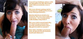 wet pussy - Daughter incest captions 3