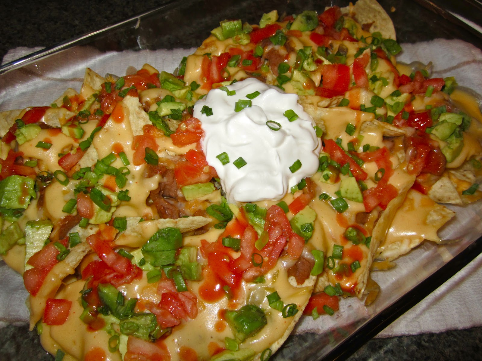 cook a mama: Game Day Nachos with Green Chili Cheddar Cheese Sauce