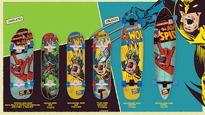 Marvel Comics The Screaming Hand Skate Deck Collection by Santa Cruz