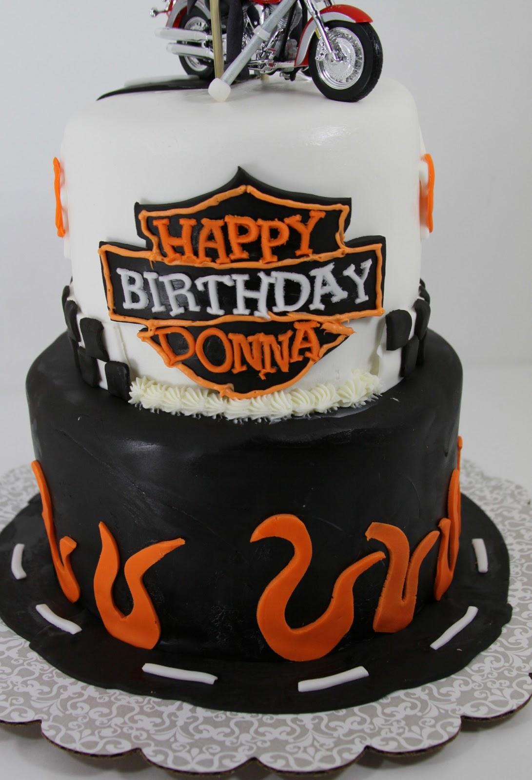 Tastefully Done Harley Davidson Cake