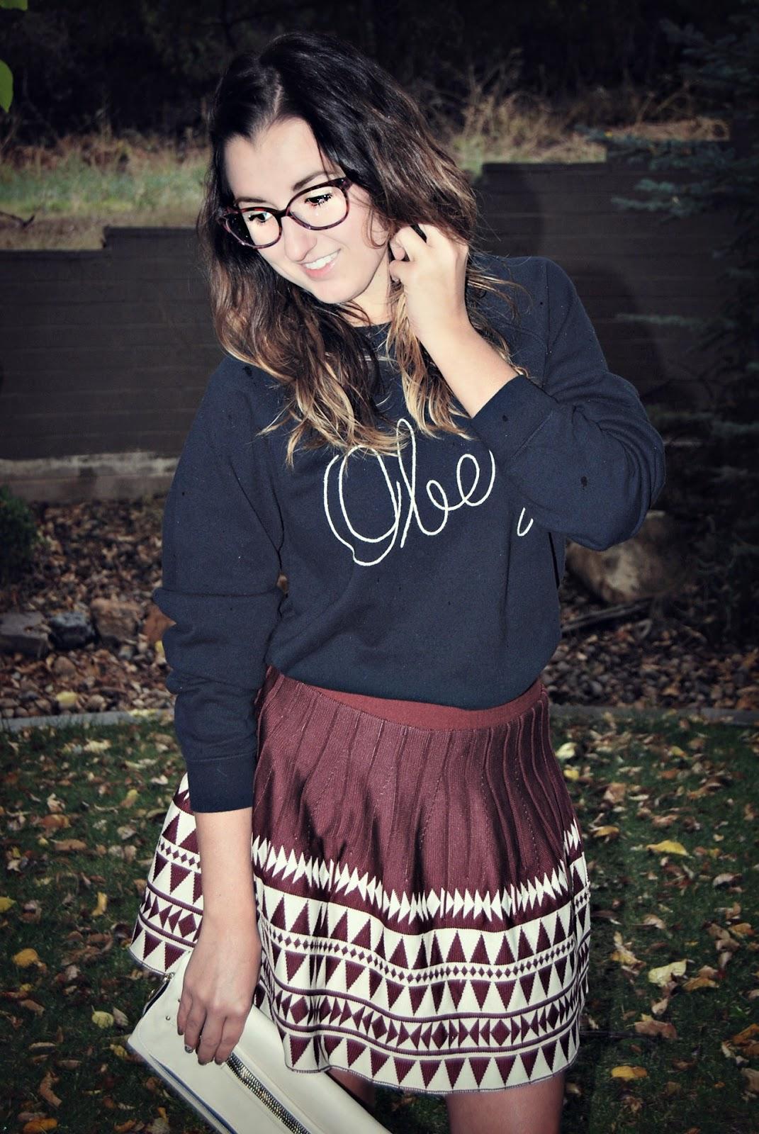 Ruffles & Volume | Obey Sweatshirt + Bohme Skirt | Life in the Sunshine Blog