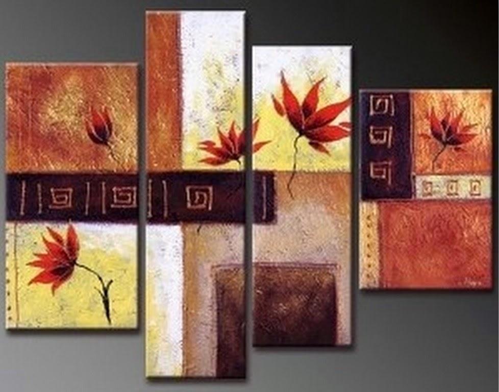 cuadros-abstracto-con-flores-para-sala