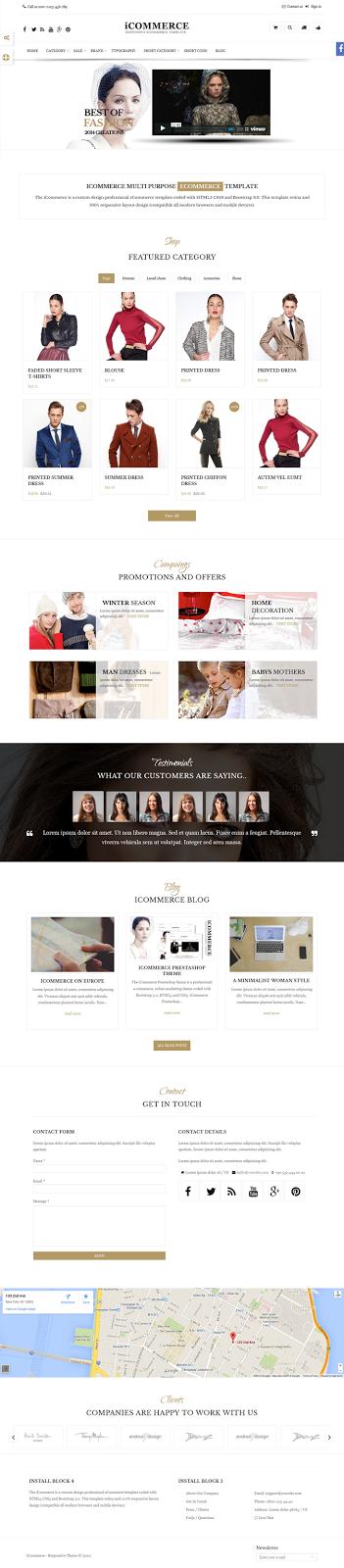 eCommerce Responsive Theme