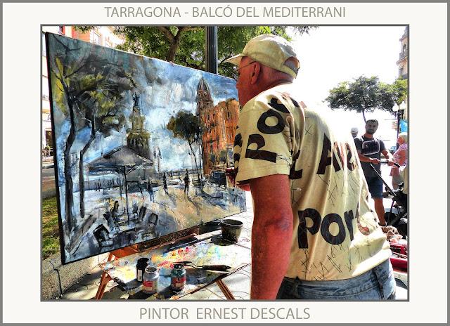 TARRAGONA-PINTURA-RAMBLA-PINTURES-BALCÓ DEL MEDITERRANI-MODERNISME-MONUMENTS-CATALUNYA-PAISATGES-FOTOS-PINTORS-ARTISTA-PINTOR-ERNEST DESCALS-