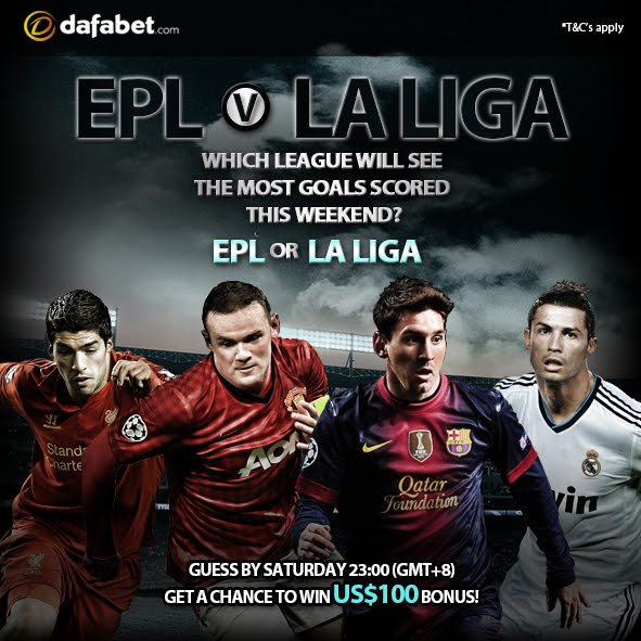 Guess which league will feature the most goals between EPL and La Liga.