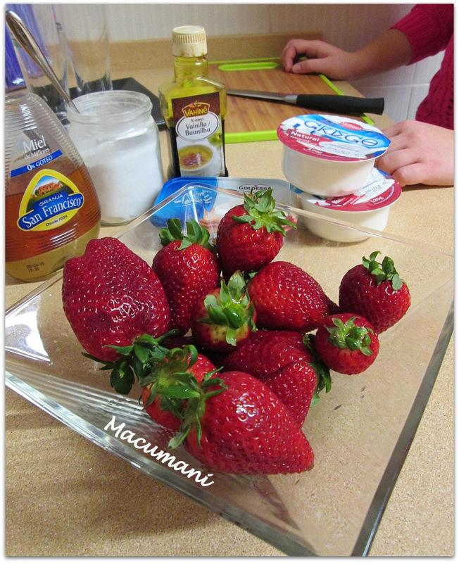 receta con fresas