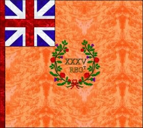35th Regiment of Foot (Charles Otway)  Regimental Colour