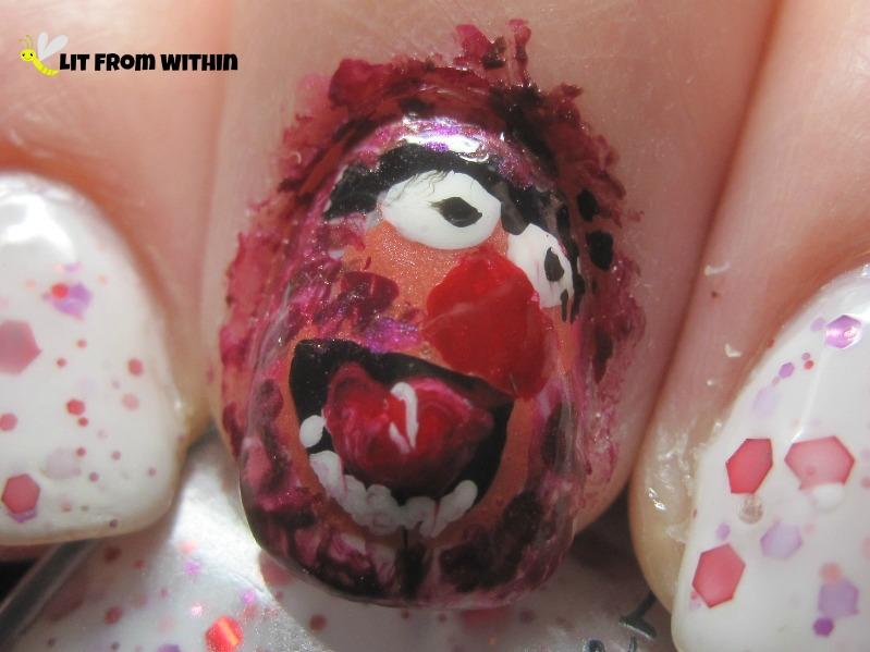 Animal nail art