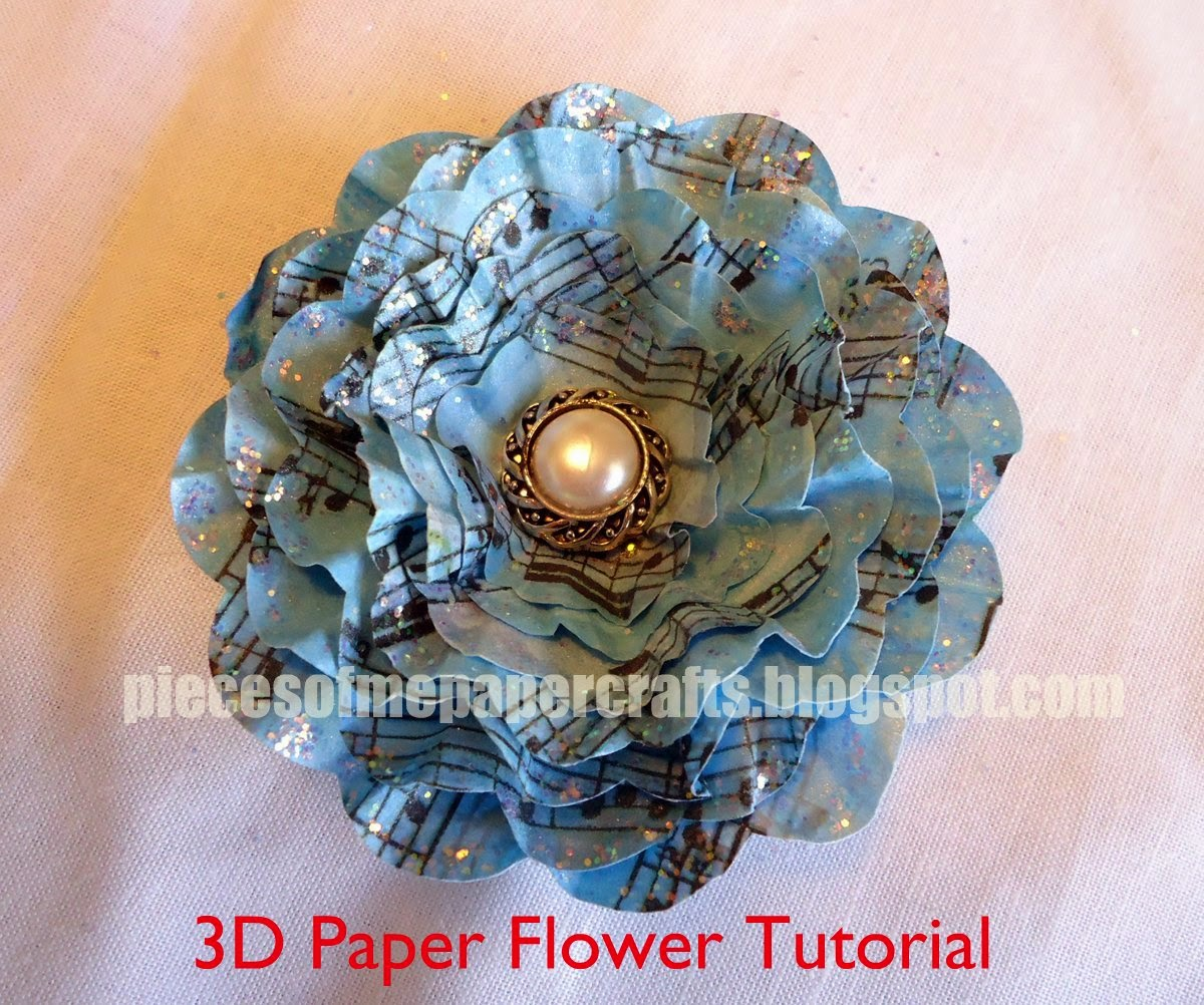 Pieces of me scrapbooking paper crafts 3d paper flower tutorial paper flower tutorial mightylinksfo