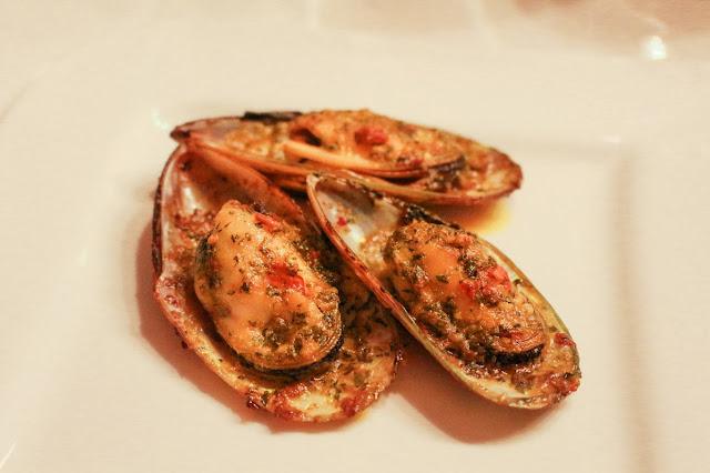 gratinerade musslor