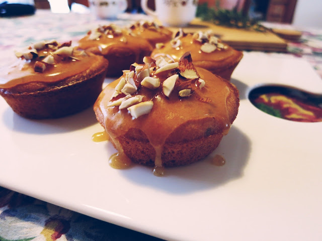 Olive Oil RosemaryCakes with Burnt Butter Glaze