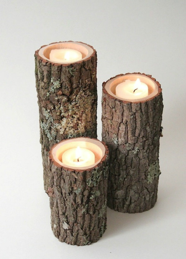 Candle+Holders+I-+Rustic+Wood+Candle+Holders+Tree+Slice+Wooden+Candle ...