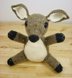 fawn, deer, doe, pattern, knit picks, three sizes, woodland, knit, toy, stuffed