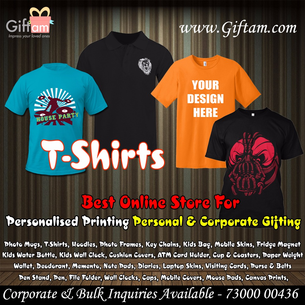 Personalized Men's T-Shirt & Kids T-Shirt @250 Only.