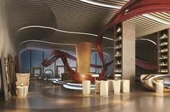 A view of the lobby at the Sofitel Kunming.