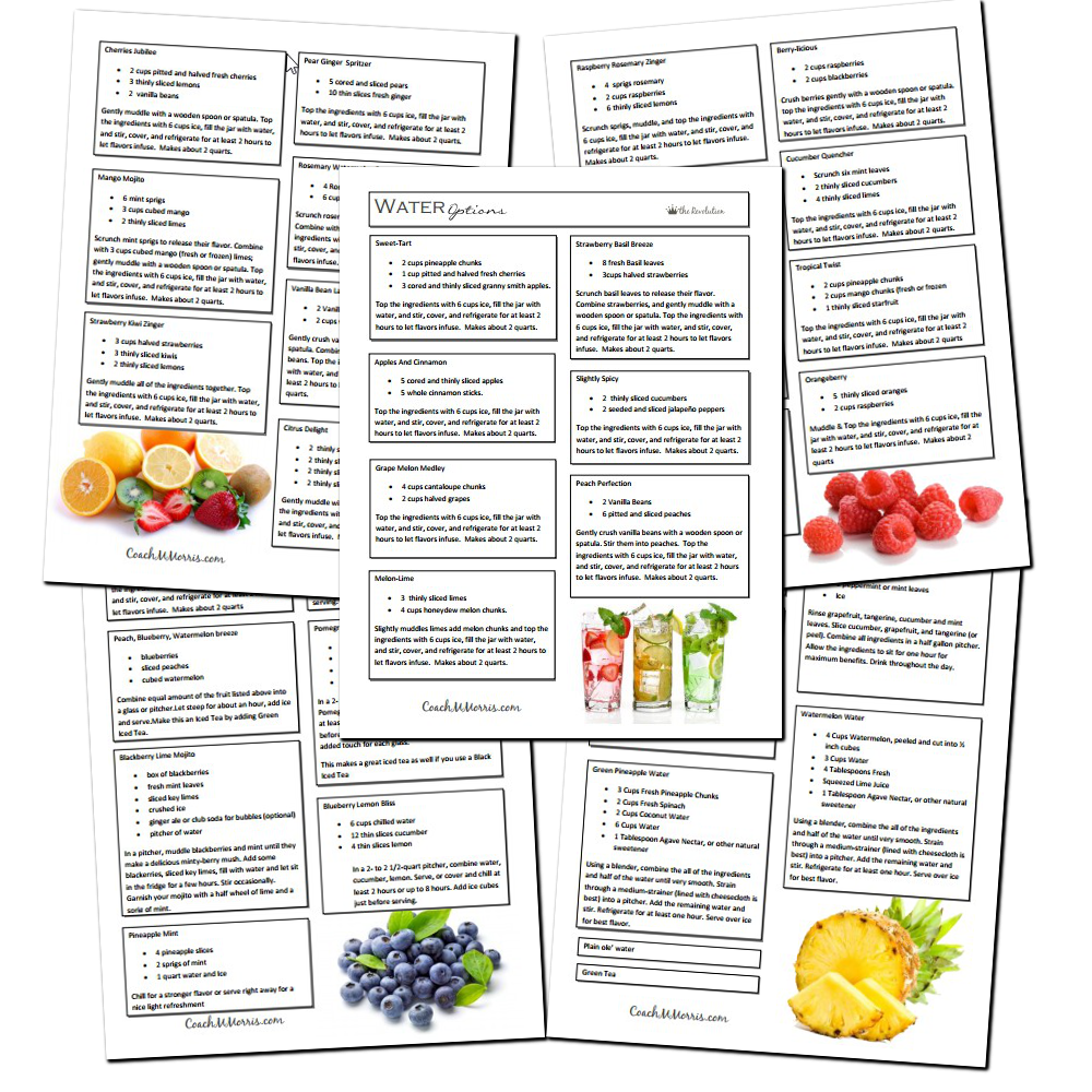 Clean Eating Meal Planner with Recipes  To Insanity amp; Back