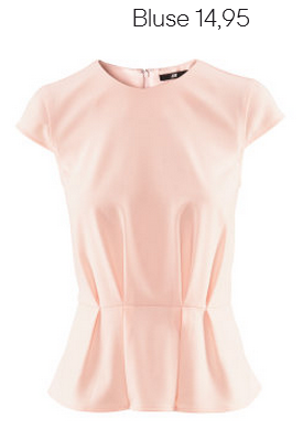 Rose Peplum Blouse H&M Fall 2012 Collection