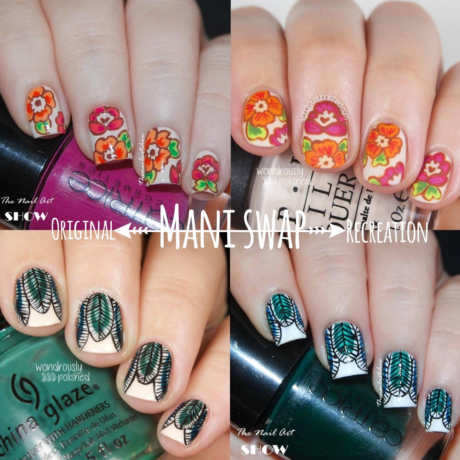 Wondrously Polished Mani Swap With Mireia Of The Nail Art Show