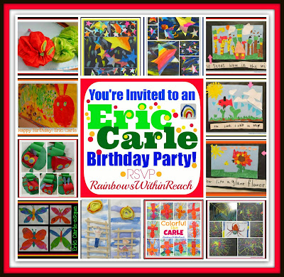 Eric Carle Birthday Bonanza Bash: Children's Art Response to the Classics at RainbowsWithinReach