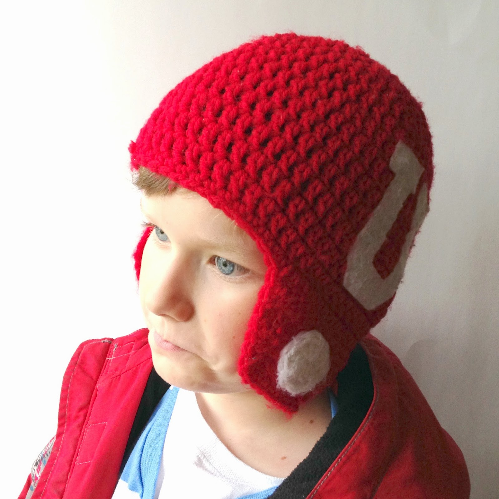 5 little monsters crocheted football helmet hats free pattern crocheted football helmet hats free pattern bankloansurffo Choice Image