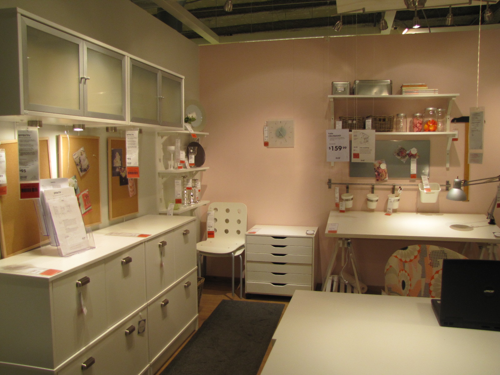 The experienced novice sewing room of my dreams ikea style for Sewing room furniture
