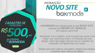 Promoção Novo Site Boxmoda