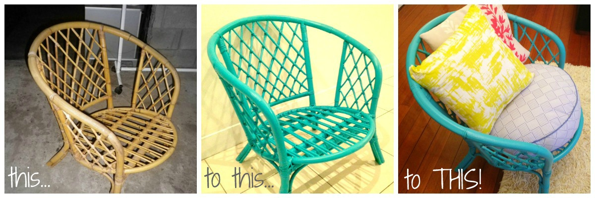 Loads Of People Have Asked Me How I Refurbished My Gorgeous Turquoise Cane  Chair, Taking It From: