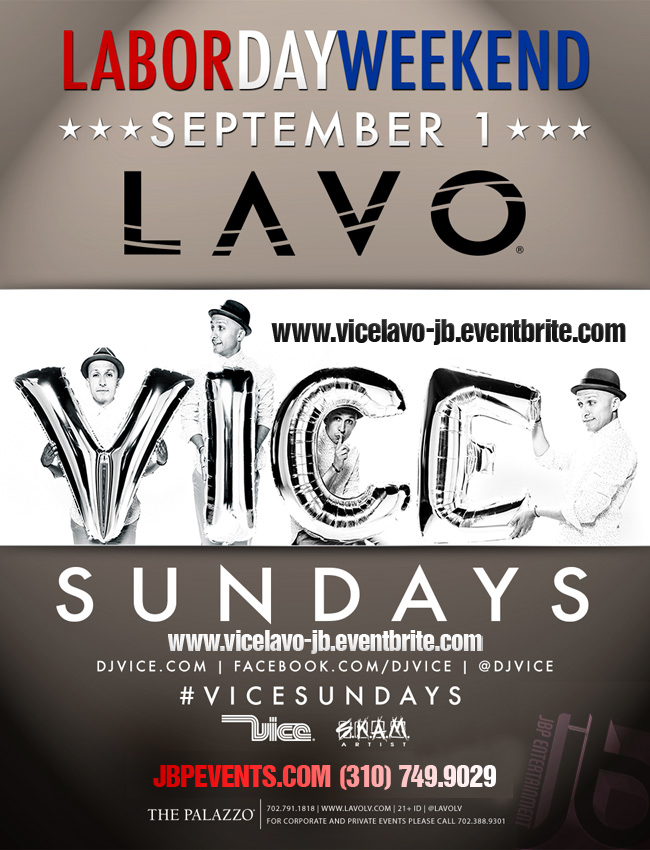 VICE Sundays Lavo Vegas Labor Day Weekend