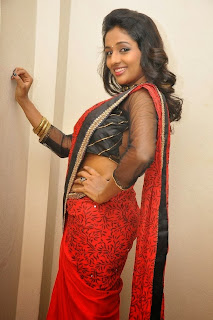Actress Amitha Rao Pictures in Saree at Chandamama Kathalu Movie Press Meet 0057
