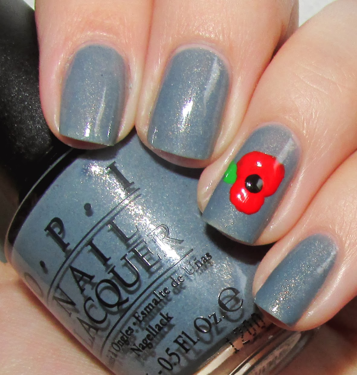 Life In Lacquer Remembrance Day Poppy Nails