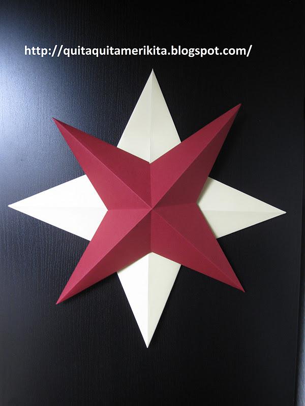 Estrella en relieve con cartulina