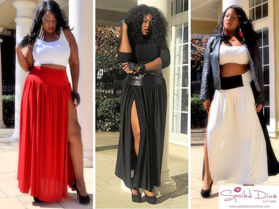 Spoiled Diva by CL Felder Plus Size Maxi Skirt Collection