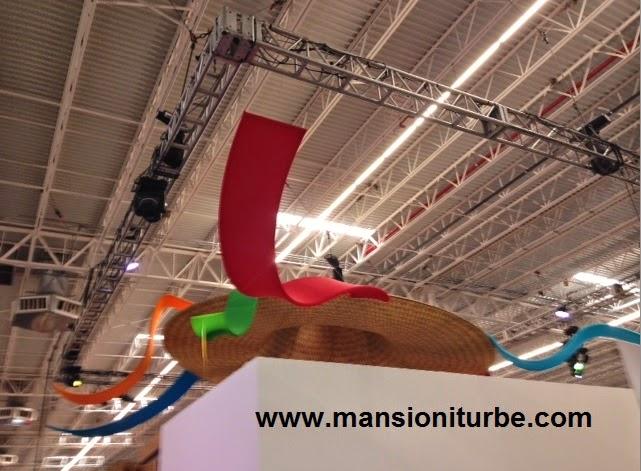 Sombrero sobre el Stand de Michoacán en el Tianguis Turístico de México 2014