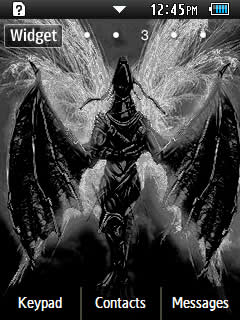 Anime Black Dragon Samsung Corby 2 Theme 2 Wallpaper
