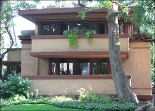 Esl five frank lloyd wright a great building designer for Prairie style house characteristics