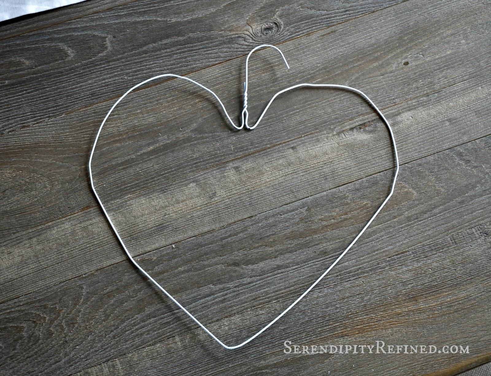 Serendipity Refined Blog: DIY Heart Shaped Flower Wreath Tutorial