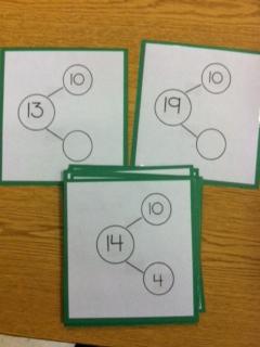 math worksheet : de posing numbers 11 19 kindergarten worksheets  composing and  : Decomposing Numbers Kindergarten Worksheets