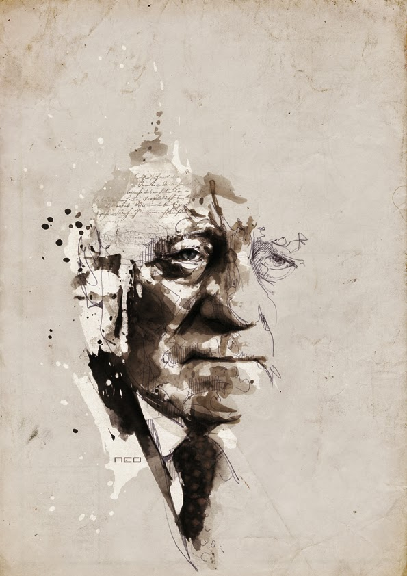 11-Jean Gabin-Florian-Nicolle-neo-Portrait-Paintings-focused-on-Expressions-www-designstack-co